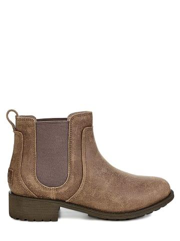 "UGG Leder-Chelsea-Boots ""Bonham II"" in Braun"