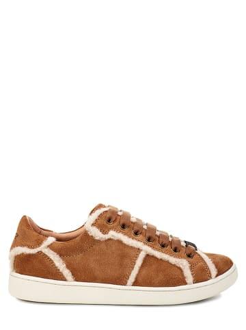"""UGG Leren sneakers """"Milo Spill Seam"""" cognackleurig"""