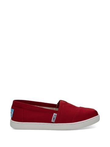 TOMS Slippersy w kolorze czerwonym