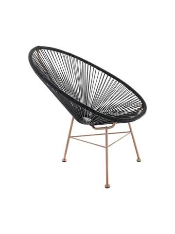 Tomasucci Fotel w kolorze czarno-miedzianym - (S)70 x (W)86 x (G)86 cm