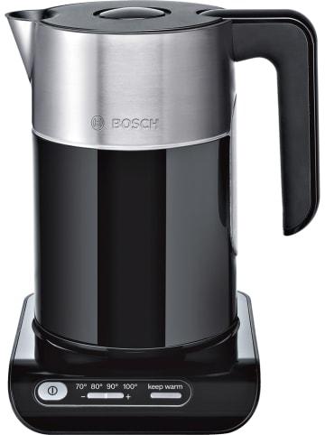 """Bosch Wasserkocher """"Styline"""" in Schwarz/ Silber - 1,5 l"""