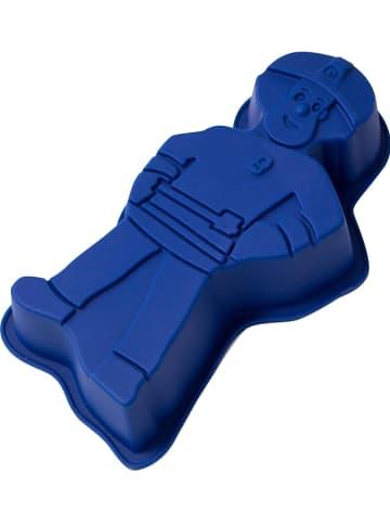 "Feuerwehrmann Sam Backform ""Feuerwehrmann Sam"" in Blau - (B)15 x (H)4 x (T)10 cm"
