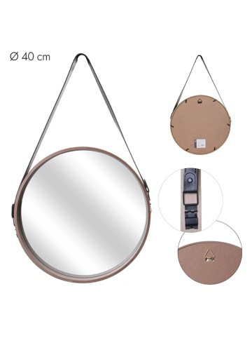 THE HOME DECO FACTORY Wandspiegel beige - (B)40 x (H)65,5 x (D)4 cm