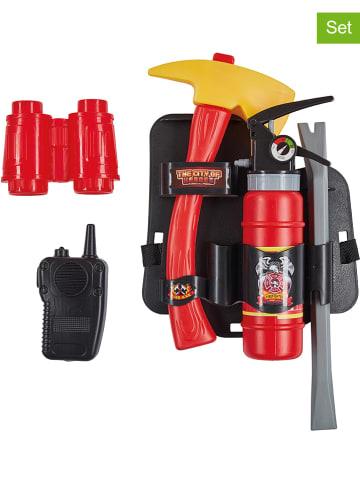 Rubie`s 6-częściowy zestaw akcesoriów strażackich w kolorze czerwono-czarnym