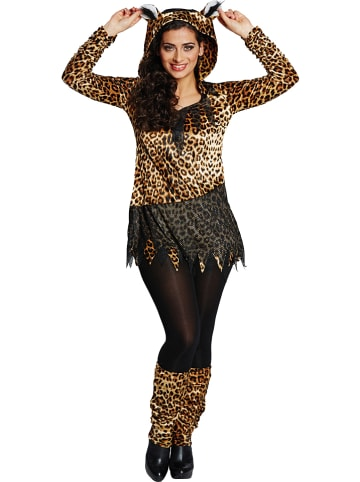 """Rubie`s 2tlg. Kostüm """"Leopard"""" in Braun/ Schwarz"""