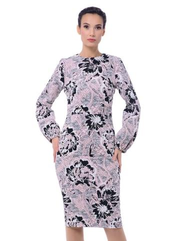 Iren Klairie Sukienka w kolorze czarno-różowo-białym