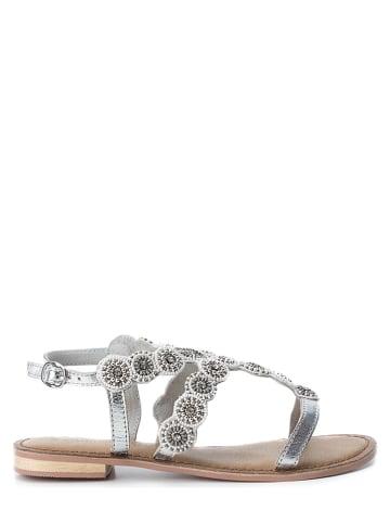 CARMELA Leren sandalen - zilverkleurig