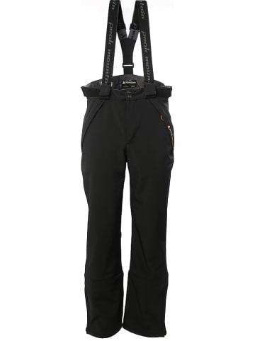 Peak Mountain Softshell-ski-/snowboardbroek zwart