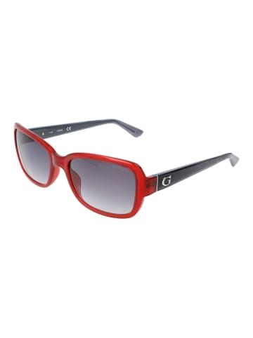 Guess Damskie okulary przeciwsłoneczne w kolorze czerwono-czarno-szarym