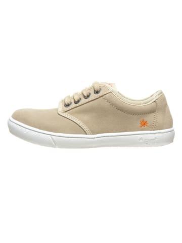 Art Kids Leren sneakers beige