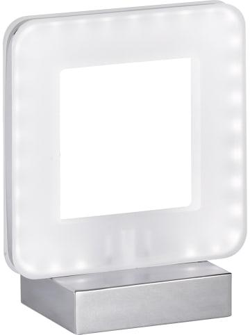 "ACTIOn by WOFI LED-Tischleuchte ""Nic"" in Chrom/ Weiß - (H)17,5 cm"