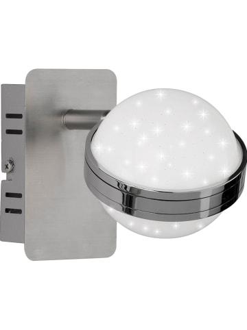 "WOFI Ścienna lampa LED ""Monde"" w kolorze srebrnym - 10 x 12 cm"