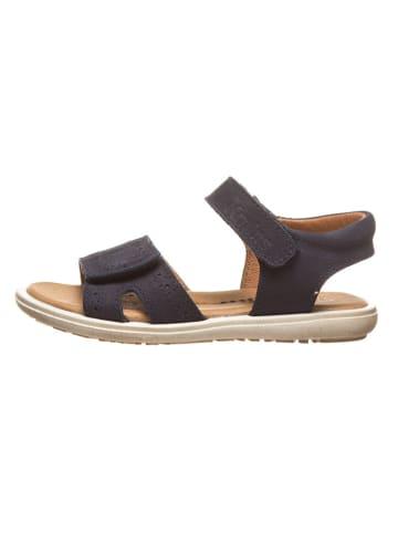 Kmins Leren sandalen donkerblauw