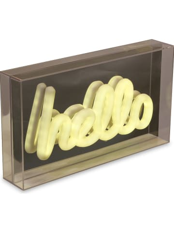 "Deco Lorrie Decoratieve ledlamp ""Hello"" warmwit - (B)25,3 x (H)14,2 cm"
