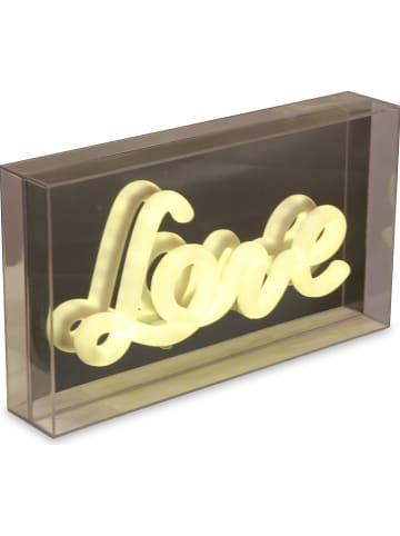 """Deco Lorrie Dekoracyjna lampa LED """"Love"""" w kolorze ciepłej bieli - 25,3 x 14,2 cm"""