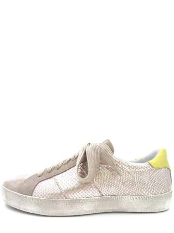 FR Franco Romagnoli Leren sneakers platinakleurig