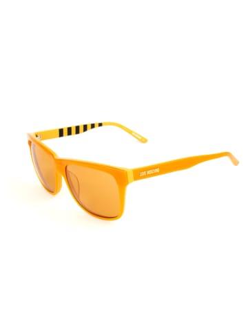Moschino Damskie okulary przeciwsłoneczne w kolorze pomarańczowym