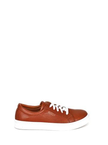 Noosy Skórzane sneakersy w kolorze brązowym