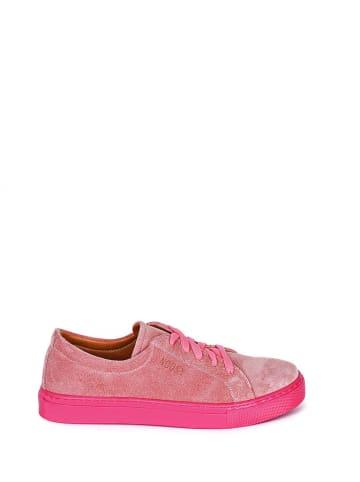 Noosy Leder-Sneakers in Pink