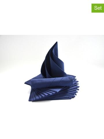 "Calitex 12-delige set: servetten ""Arc en ciel"" donkerblauw"