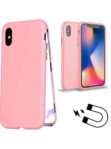 WHIPEARL Full Body Case w kolorze jasnoróżowym do iPhone X/ Xs