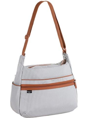 "MARV Kinderwagentasche ""Urban Bag"" in Grau/ Weiß - (B)40 x (H)32 x (T)16 cm"