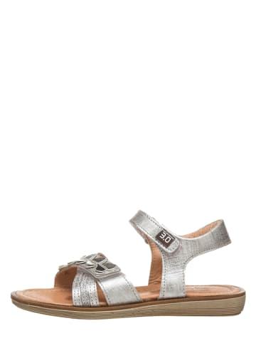 TREVIRGOLAZERO Leder-Sandalen in Silber