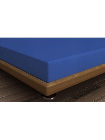 Colourful Cotton Prześcieradło renforcé w kolorze niebieskim na gumce