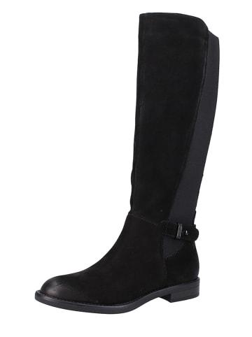 VENTURINI Leder-Stiefel in Schwarz