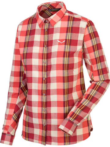 """Salewa Functionele blouse """"Fanes"""" rood/wit"""