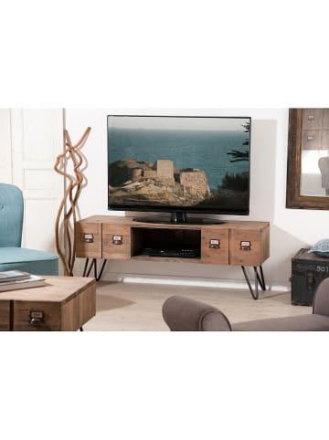 """Macabane Komoda """"Octave"""" w kolorze brązowym pod telewizor - 150 x 35 x 50 cm"""