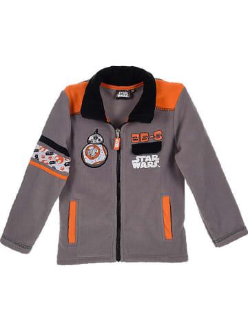 """Star Wars Bluza polarowa """"Star Wars"""" w kolorze szaro-pomarańczowym"""