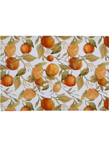 """Madre Selva Dywanik łazienkowy """"Oranges"""" kolorze pomarańczowo-zielonym - 60 x 40 cm"""