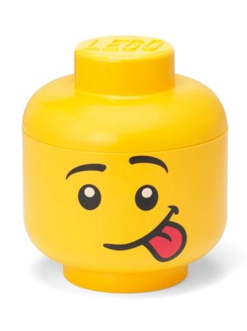 """LEGO Opbergbox """"Silly"""" geel - (H)18,5 x Ø 16 cm"""