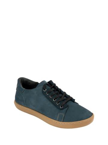 Comfortfusse Skórzane sneakersy w kolorze granatowym