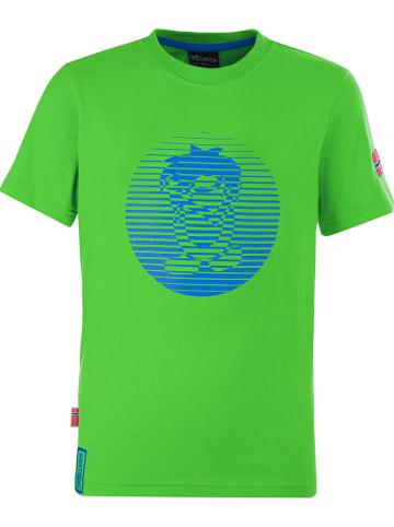 """Trollkids Koszulka funkcyjna """"Troll"""" w kolorze zielonym"""