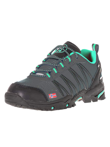 "Trollkids Buty trekkingowe ""Trolltunga Hiker Low"" w kolorze zielono-szarym"