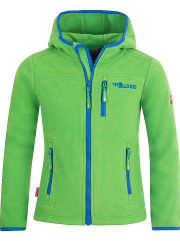 """Trollkids Kurtka polarowa """"Stavanger"""" w kolorze zielono-niebieskim"""