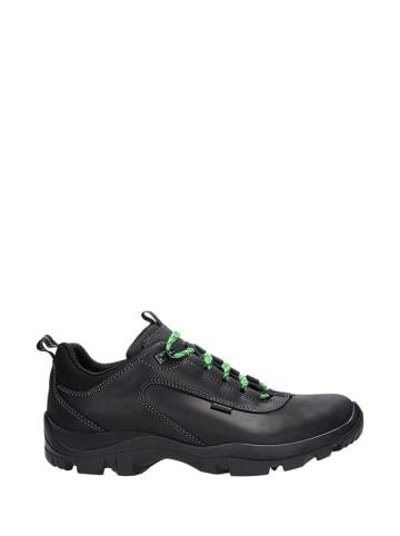 Wojas Skórzane sneakersy w kolorze czarnym