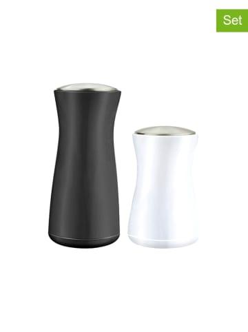 Vialli Design 2-częściowy zestaw pojemników w kolorze czarno-białym na sól/pieprz
