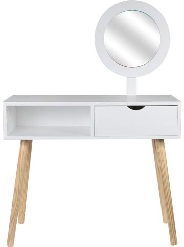 """THE HOME DECO FACTORY Toaletka """"Aurore"""" w kolorze białym - 80 x 125 x 30 cm"""