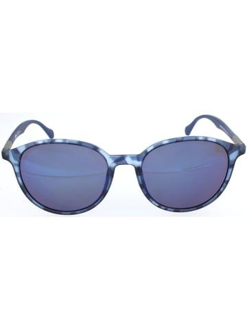 Hugo Boss Męskie okulary przeciwsłoneczne w kolorze niebieskim