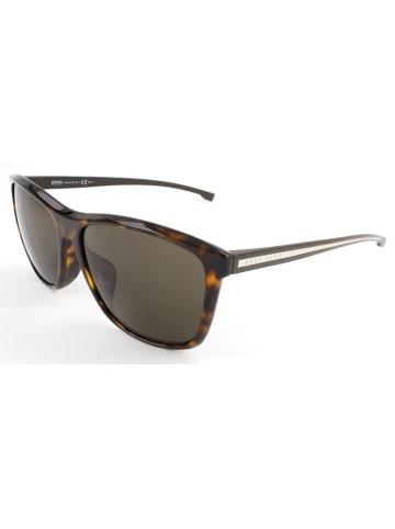 Hugo Boss Damen-Sonnenbrille in Braun/ Khaki