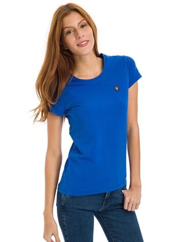 Galvanni T-shirt w kolorze kobaltowym