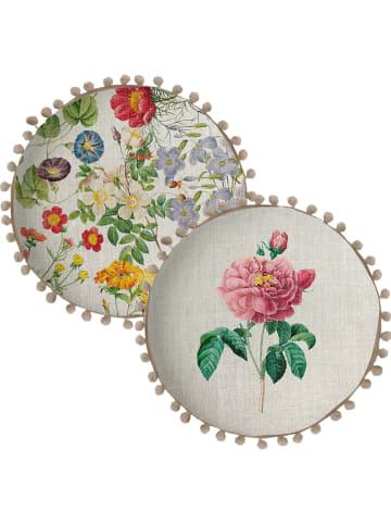 "Madre Selva Poduszka ""Rose Flowers"" ze wzorem - Ø 45 cm"