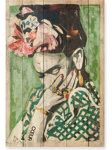 """Madre Selva Nadruk """"Frida Coeur"""" na drewnie - 40 x 60 cm"""
