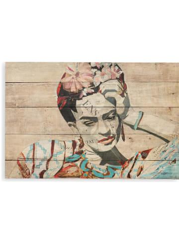 "Tierra Bella Holzdruck ""Collage of Frida"" - (B)60 x (H)40 cm"