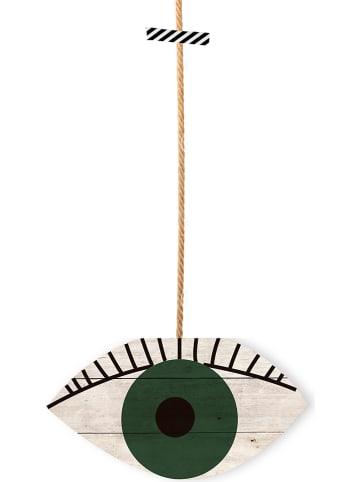 "Madre Selva Dekoracja ścienna ""Green Eyes"" - 25 x 40 cm"
