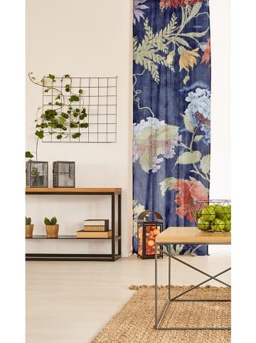 "Madre Selva Gordijn ""Kioto"" donkerblauw/meerkleurig - (L)270 x (B)140 cm"