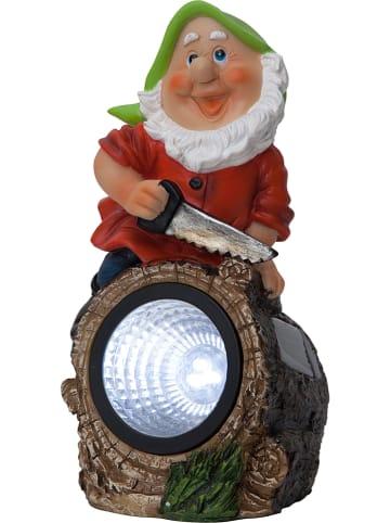 """Best Season Solarna dekoracja LED """"Gnomy"""" z kolorowym wzorem - 9,5 x 21 cm"""